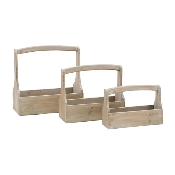 Sada 3 dřevěných přepravek na nářadí Ego Dekor