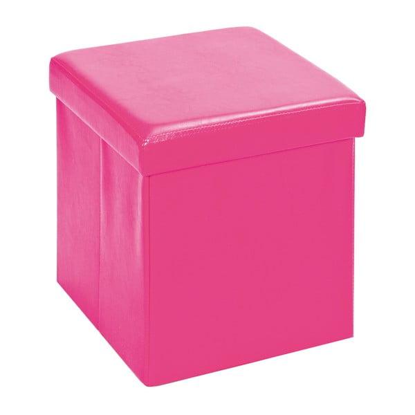 Růžový sedací puf s úložným prostorem 13Casa Fold