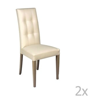Set 2 scaune Evergreen House Eco, crem