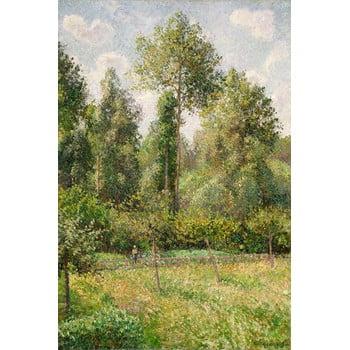 Reproducere tablou Camille Pissarro - Poplars Éragny, 60 x 80 cm poza