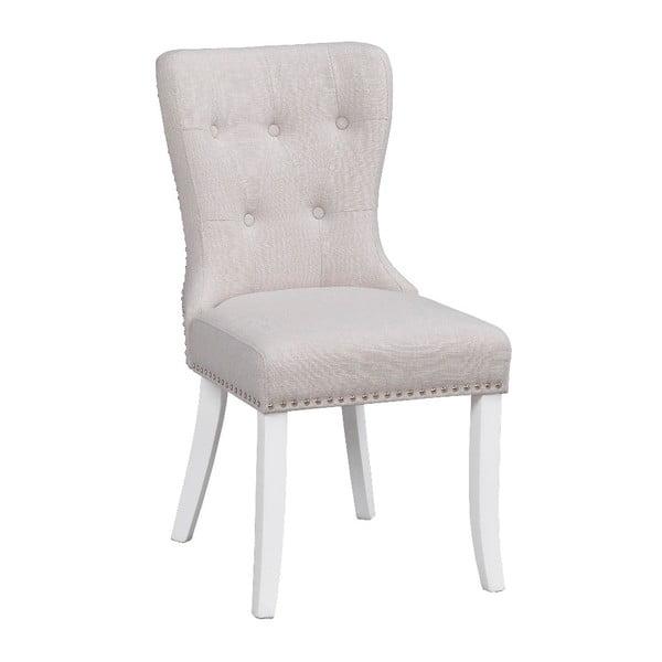 Biela polstrovaná jedálenská stolička s brezovou konštrukciou Rowico Ina
