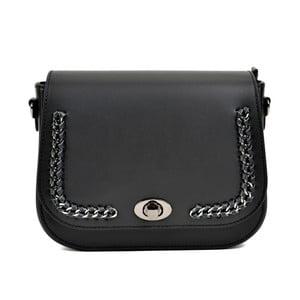 Černá kožená kabelka Renata Corsi Hanna
