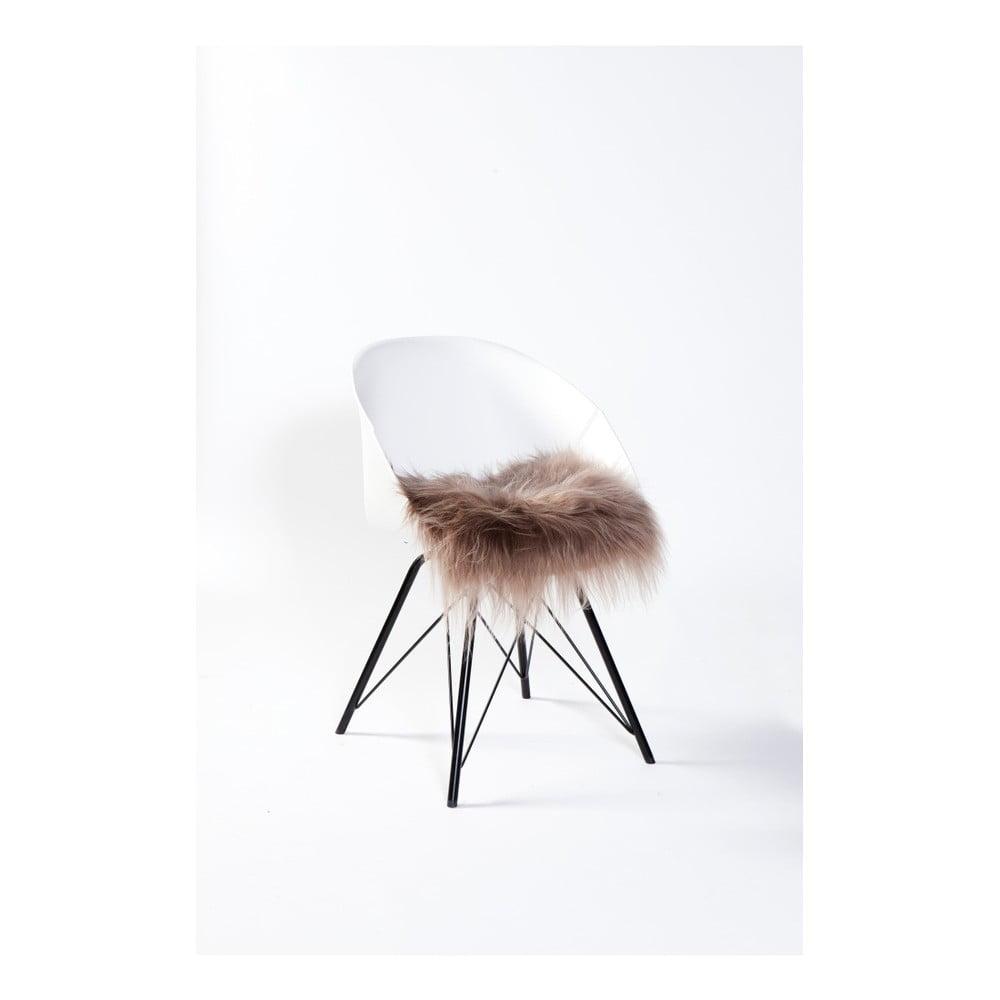 Hnědý sedák na židli Woooly Taupe
