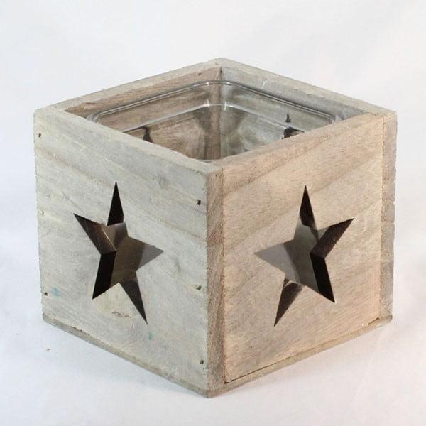 Dřevěný svícen Hvězda,9 cm