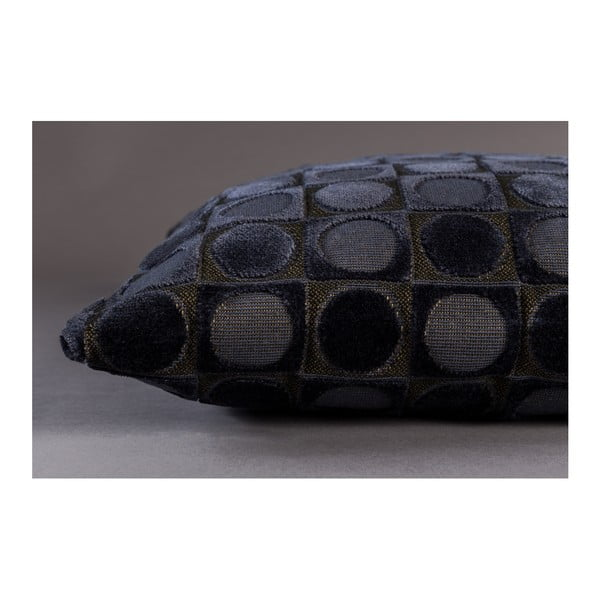 Tmavě modrý polštář Dutchbone Ottava, 45x45cm