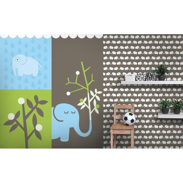Vliesová tapeta Elephants 270x46.5 cm, šedohnědá