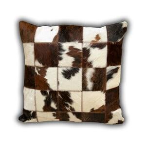 Polštář z pravé kůže Normand Cow, 45x45 cm