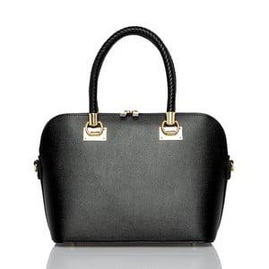 Černá kožená kabelka Glorious Black Camilla