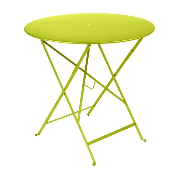 Světle zelený zahradní stolek Fermob Bistro, ⌀ 77 cm