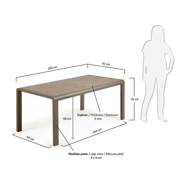 Dřevěný stůl La Forma Renna,160x90cm