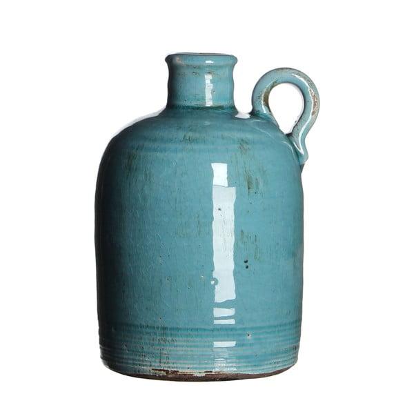 Keramická váza Sil Turquoise, 20x13 cm
