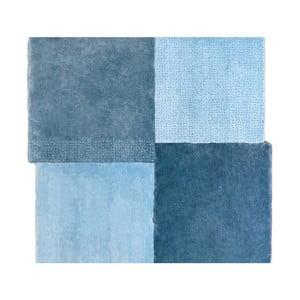 Modrý koberec EMKO Over Square, 250 x 260 cm