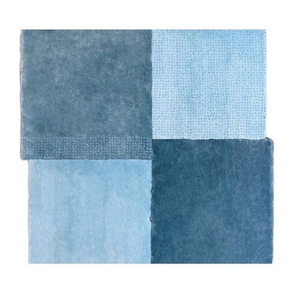 Modrý koberec EMKO Over Square, 250 × 260 cm