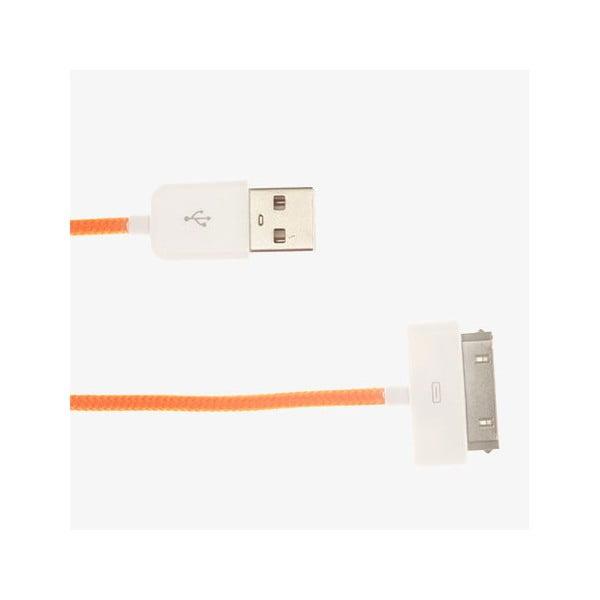 USB kabel pro iPhone 4/4S, oranžový
