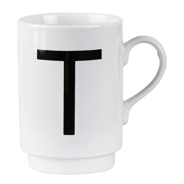 Porcelánový písmenkový hrnek T