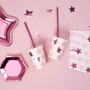 Sada 8 papírových kelímků Neviti Little Star Pink
