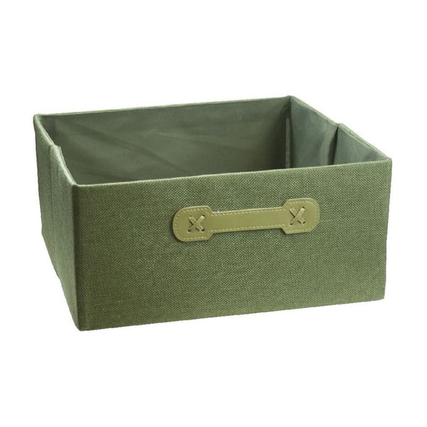 Úložný box Ordinett Halfcube Green, 32 x 32 cm
