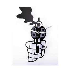 Plexisklové hodiny Revolver