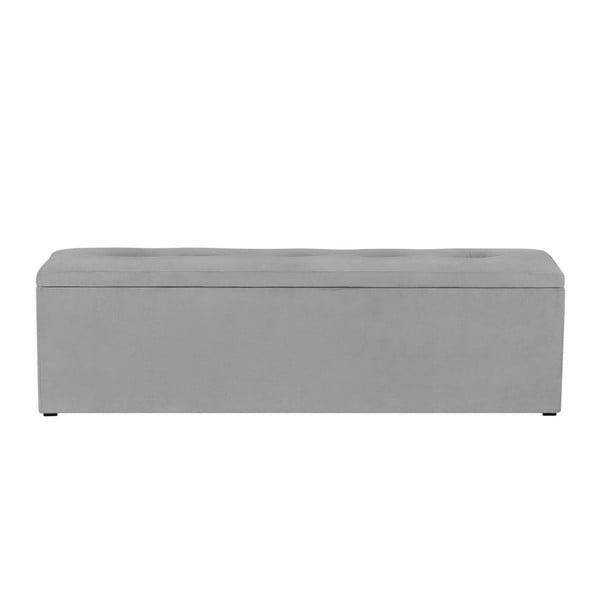 Bancă pentru pat cu spațiu de depozitare Kooko Home, 47 x 140 cm, gri