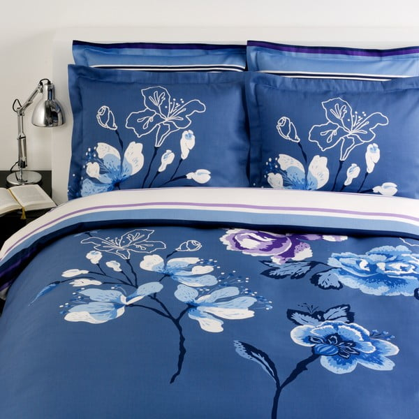 Povlečení na dvoulůžko Menton Blue 116, 200x220 cm