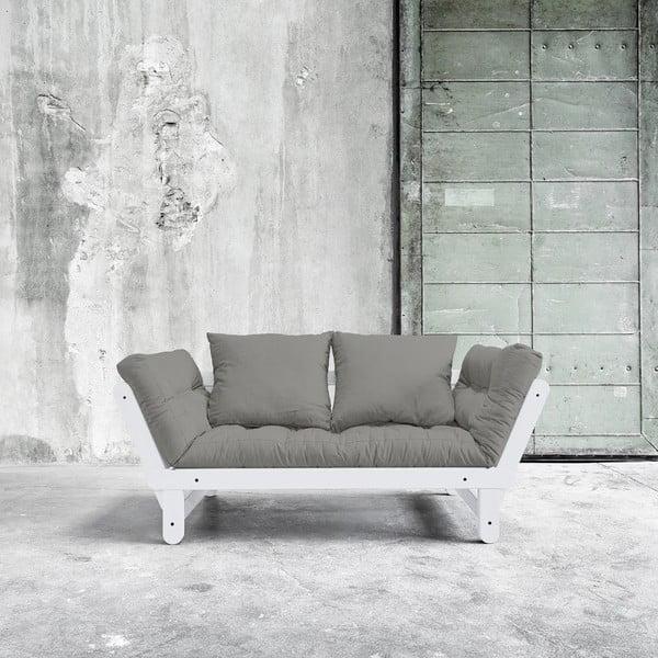 Rozkládací pohovka Beat White/Granite Grey