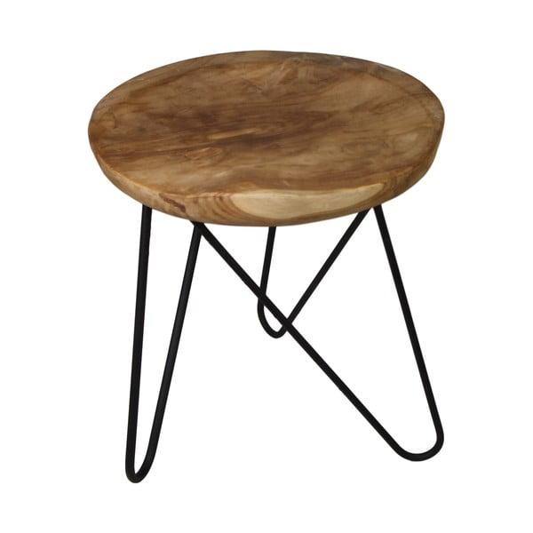 Odkládací stolek z teakového dřeva HSM collection Kruk