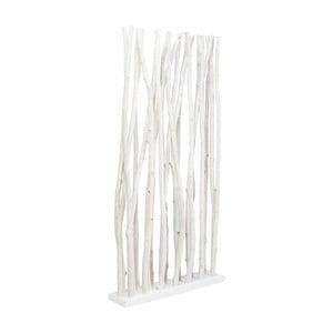 Bílý dřevěný paraván Kare Design Roots