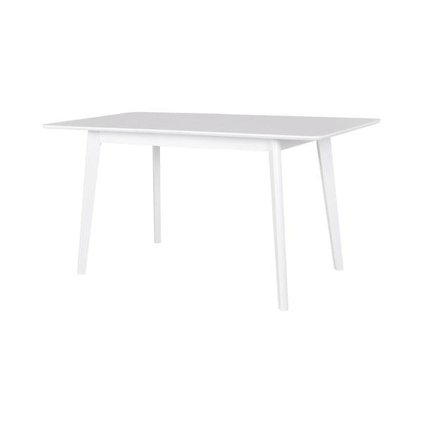 Bílý rozkládací jídelní stůl Canett Tilde, 75x75cm