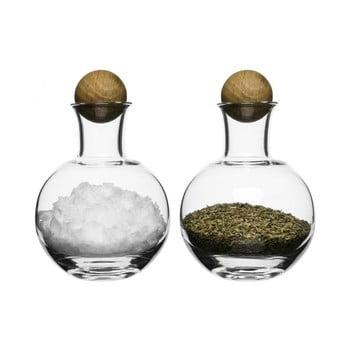Solniță și piperniță Sagaform Oval Oak, 200 ml de la Sagaform