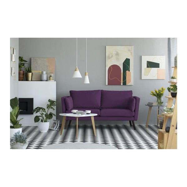 Fialová 3místná pohovka Mazzini Sofas Cotton