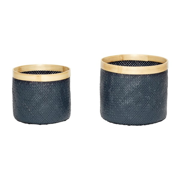 Zestaw 2 koszyków bambusowych Hübsch Ottilia