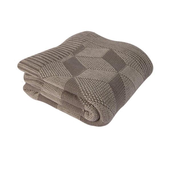 Hnědá bavlněná deka Clen