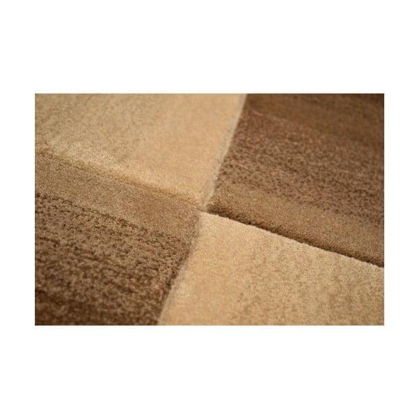 Ručně tkaný koberec Calypso, 200x300 cm, hnědý