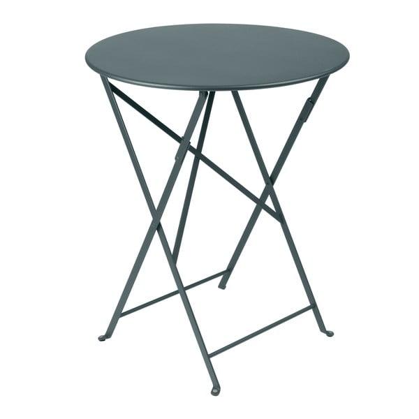 Tmavě šedý skládací kovový stůl Fermob Bistro