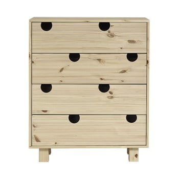 Comodă cu patru sertare Karup Design House Natural de la Karup Design