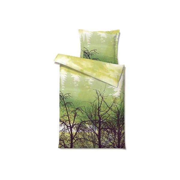 Povlečení Misty Morn Green, na jednolůžko (200x140 cm)