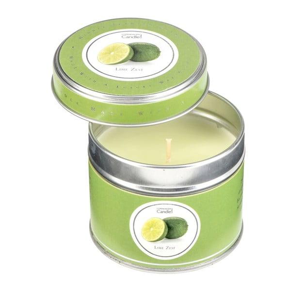 Aroma svíčka v plechovce s vůní limetek Copenhagen Candles, doba hoření 32 hodin