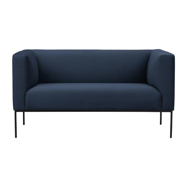 Tmavě modrá dvojmístná pohovka Windsor & Co Sofas Neptune