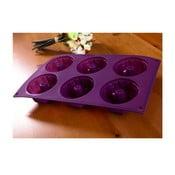 Forma na bábovičky, 6 ks, fialová