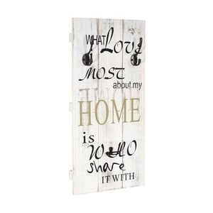 Dřevěný nástěnný věšák  Mendler Shabby Share Home