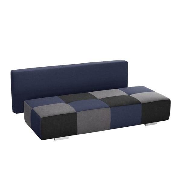 Modro-šedá rozkládací pohovka Modernist Dandy