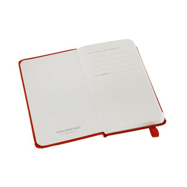 Zápisník Moleskine XS Red, nelinkovaný