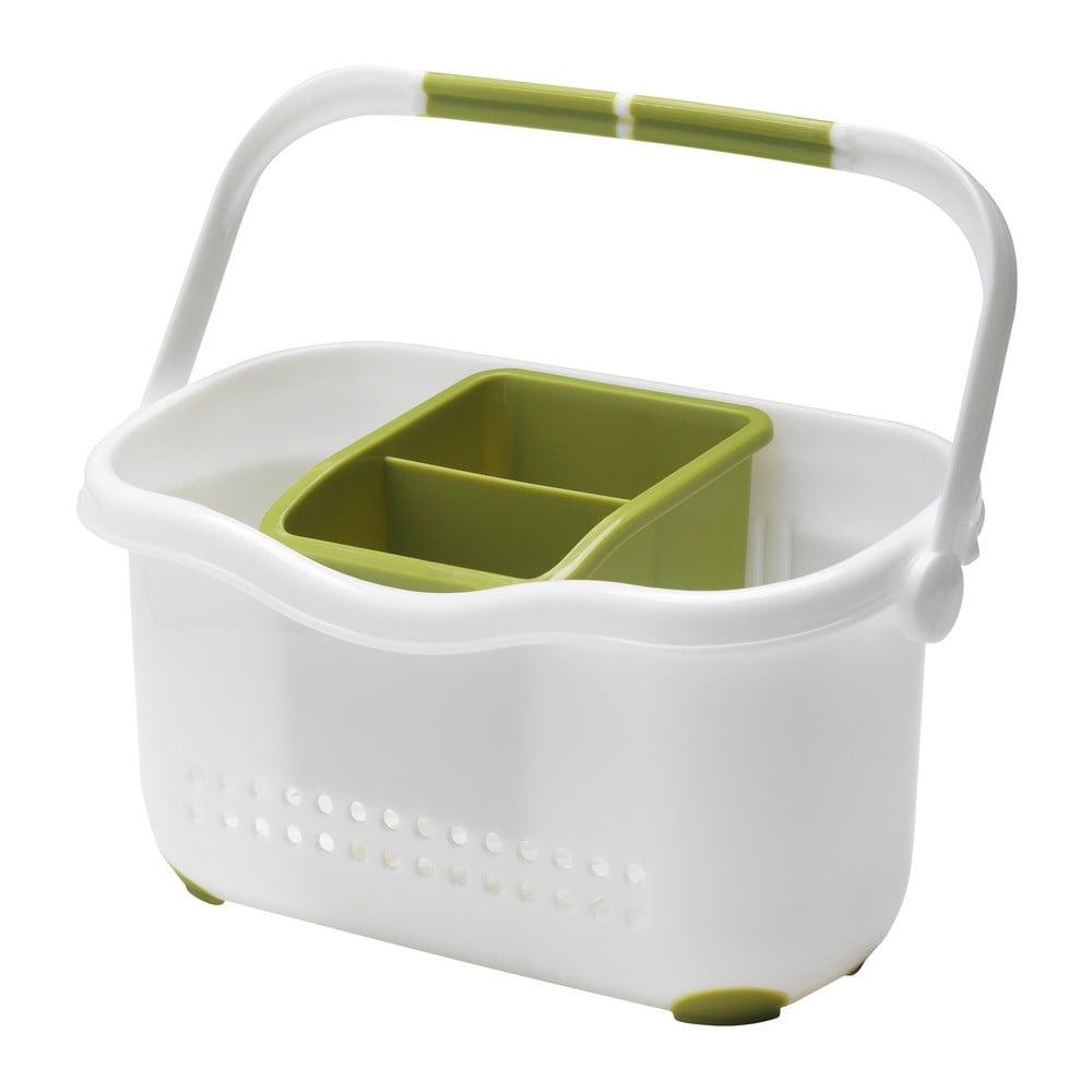 Zeleno-bílý košík k dřezu Addis Caddy