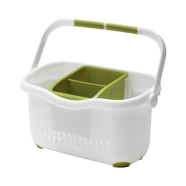 Zeleno-biely košík k drezu Addis Caddy