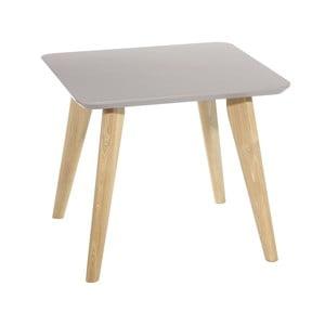 Šedý odkládací stolek Ixia Nórdico