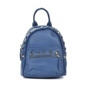 Modrý kožený batoh Mangotti Bags Agnese