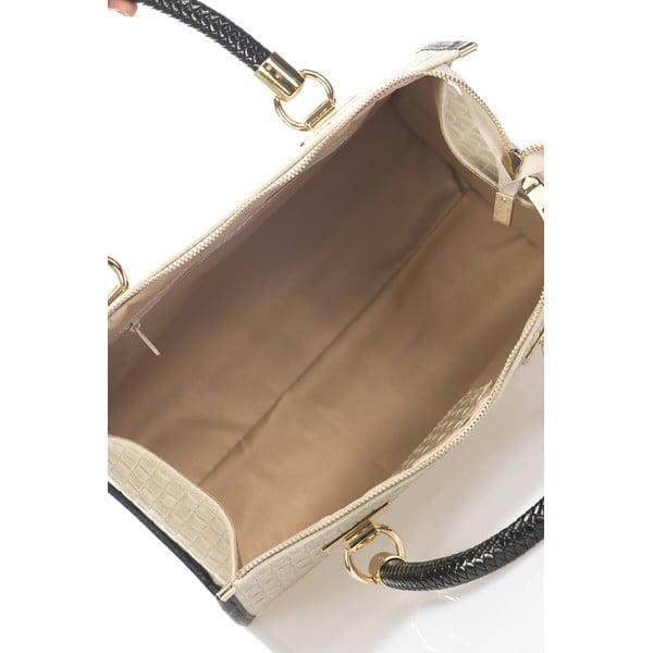 Kožená kabelka Lida, béžová