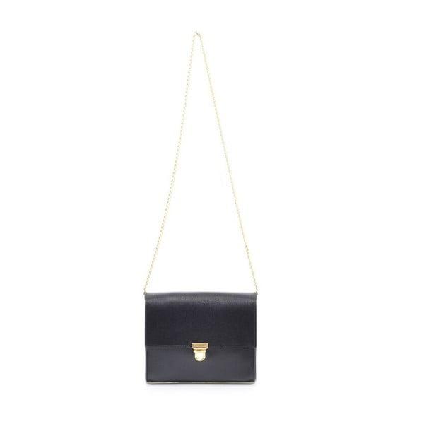 Kožená kabelka Jennifer, černá