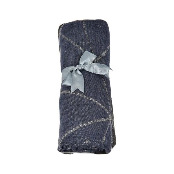 Tmavě šedý dámský šál s příměsí bavlny Dolce Bonita Sky, 170 x 90 cm