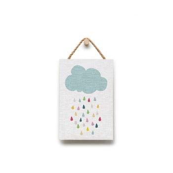 Tablou din lemn KICOTI Rain, 20 x 30 cm, multicolor de la KICOTI